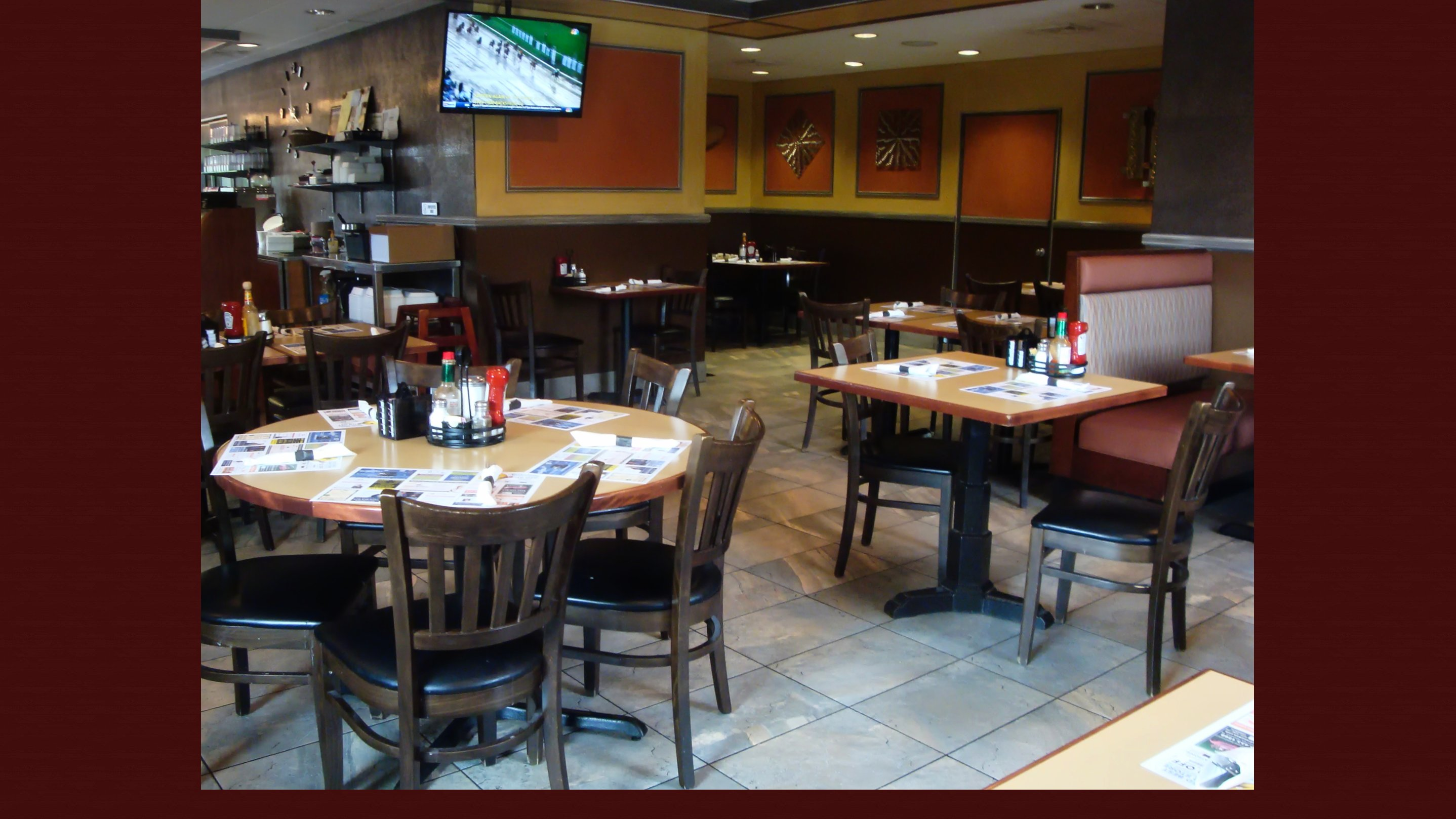 Booth section of Hanover eatery in Bethlehem PA
